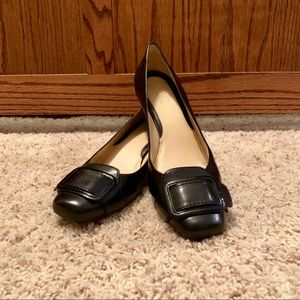 Cole Haan Leather Black Square Toe Size 10